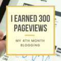 I EARNED 300 PAGEVIEWS; MY 4TH MONTH BLOGGING