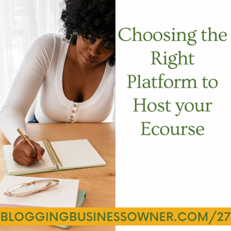Choosing the Right Platform to Host your Ecourse